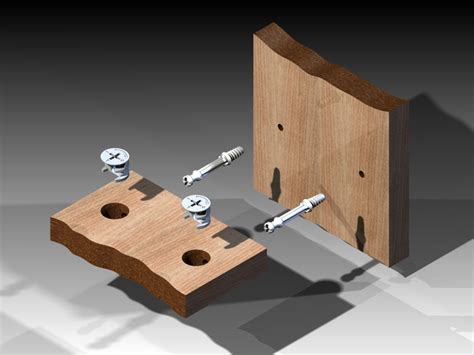 cam lock furniture fitting  cad model library grabcad