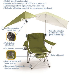 cing chair with footrest and umbrella sport brella umbrella chair blue sun