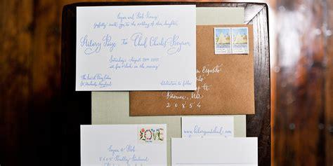 wedding invitations    addressed  hand