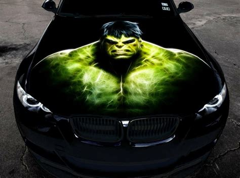 full color vinyl car hood graphics sticker  incredible