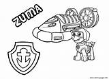 Patrol Paw Zuma Coloring Pages Hovercraft Chase Vehicle Rocky Colouring Printable Sea Sheets Template Vehicles Drawing Skye Badge Everest Coloringhome sketch template