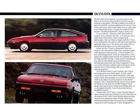 old car manuals online 1986 buick skyhawk lane departure warning 1986 buick skyhawk brochure cdn