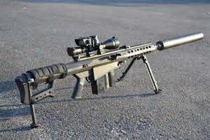 Suppressed 50 Cal Sniper Rifle