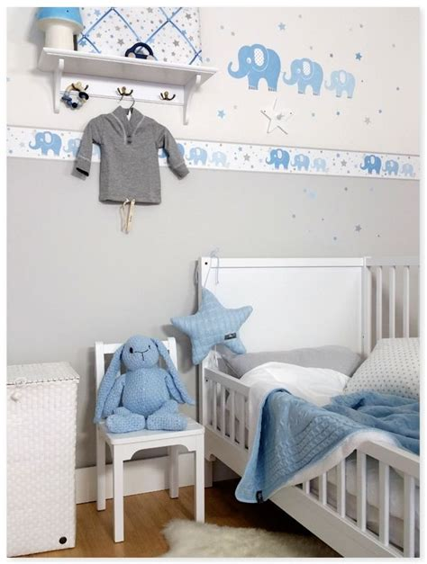 Babyzimmer Blau Grau