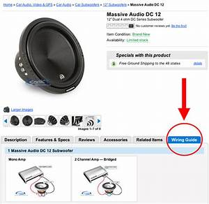 New Wiring Guide On Car Subwoofer Product Pages
