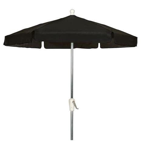 7 5 ft hex garden patio umbrella 6 rib crank bright