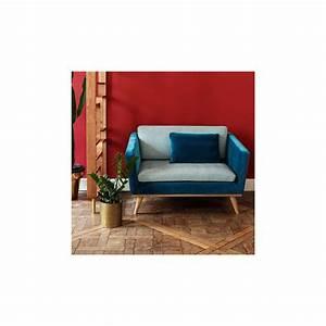 Canapé Velours Bleu Canard : canap vintage velours bleu canard arne concept ~ Teatrodelosmanantiales.com Idées de Décoration