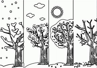 Seasons Coloring Pages Season Worksheets Wecoloringpage Adult