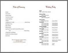 wedding program template fan 1000 images about bulletins on knots cords