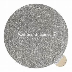 grand tapis rond gris clair sur mesure par mon grand tapis With grand tapis rond