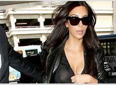 Kim Kardashian Nip Slip at LAX Preview of Coming