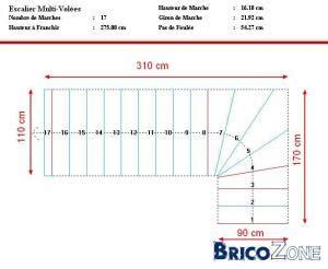 escalier b 233 ton quart tournant gauche dangeureux