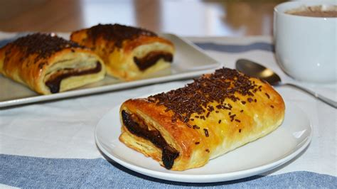 chocolate filled croissant au chocolat easy puff