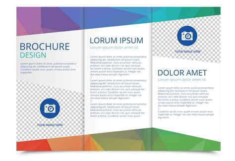 Free Template For Brochure by Tri Fold Brochure Vector Template Free Vector