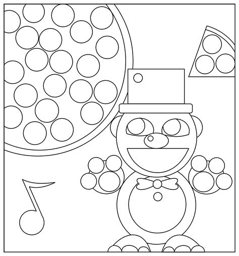 Golden Freddy Kleurplaat by Golden Nights At Five Freddy Coloring Pages Sketch