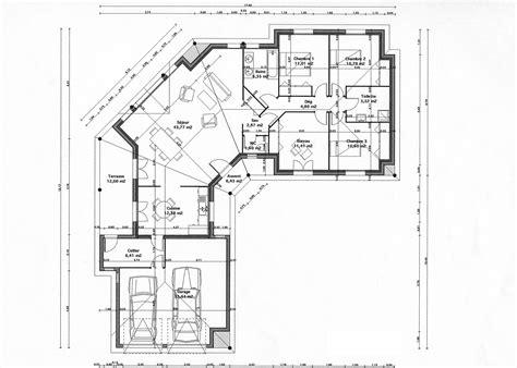 plan de maison plain pied 4 chambres avec garage plan gratuit maison plain pied en u ventana