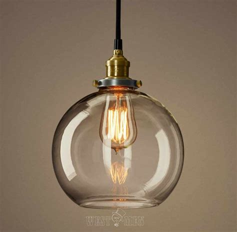 clear glass pendant lights for kitchen clear glass globe pendan light modern kitchen pendant 9423