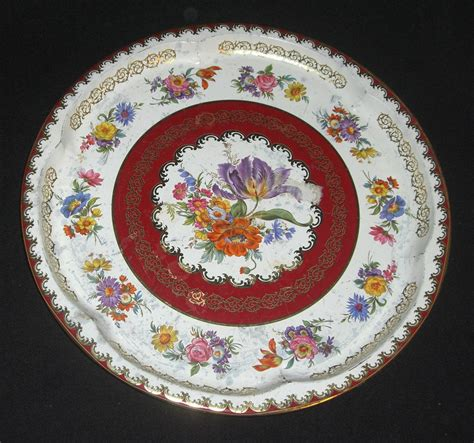 Daher Decorated Ware History by Vintage Daher Decorated Ware 11101 Metal Platter