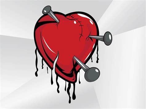 broken heart cartoon vector art graphics freevectorcom