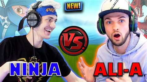 ninja roasts ali  insane jetpack plays fortnite