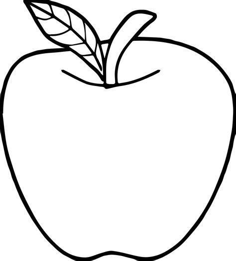 Good Apple Coloring Page Wecoloringpagecom