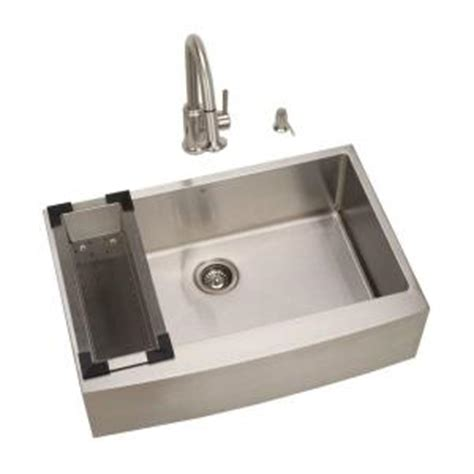 kitchen sink 33x22 single bowl vigo all in one farmhouse stainless steel 33x22 25x10 0