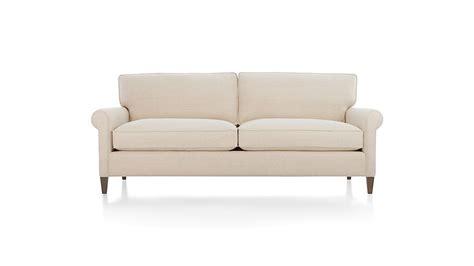 montclair apartment sofa duet natural crate  barrel