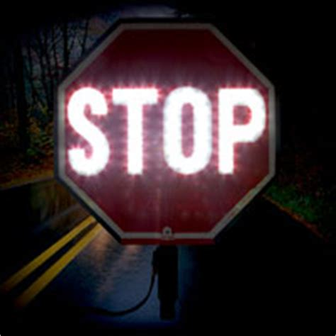 18 quot led stop paddle y5000 by safetysign