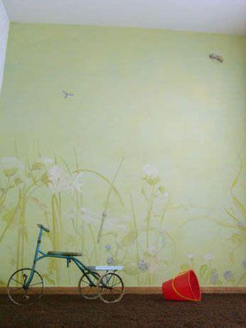 Wandgestaltung Kinderzimmer Wiese by Kinderzimmer Marias Zimmer