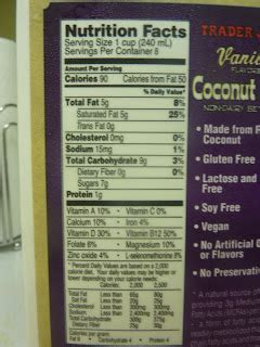 Fast trader joe's chocolate soy milk nutrition facts