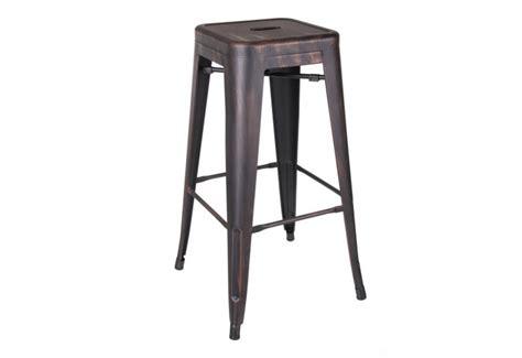 tabouret de bar en metal tabouret de bar industriel en m 233 tal noir or dallas by auxportesdela