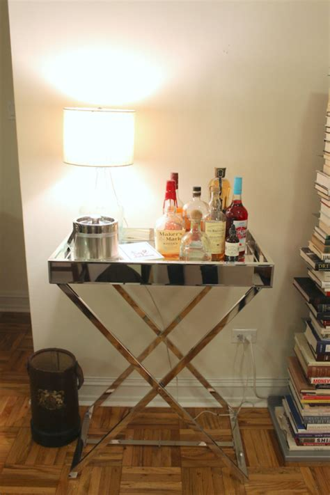 west elm bar table one room challenge week four design darling