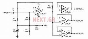 U0026gt  Inside Circuits  U0026gt  Audio Splitter Amplifier Circuit With
