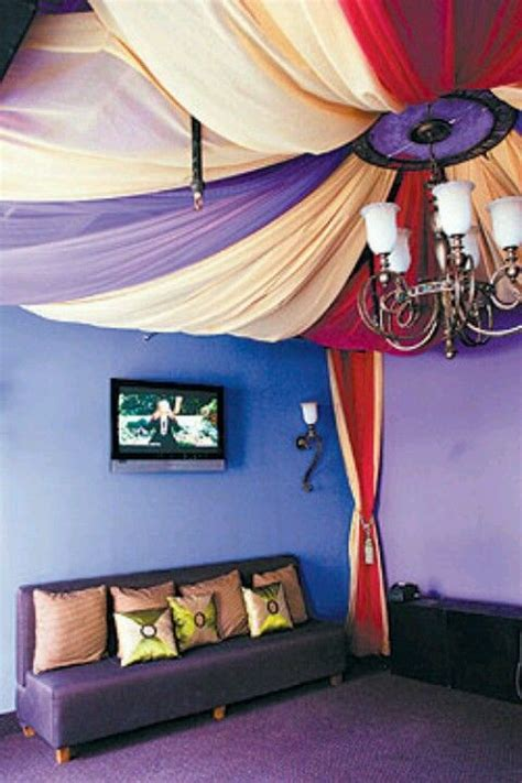 Draped Ceiling Bedroom - morrocan fabric ceiling i these drapes can be