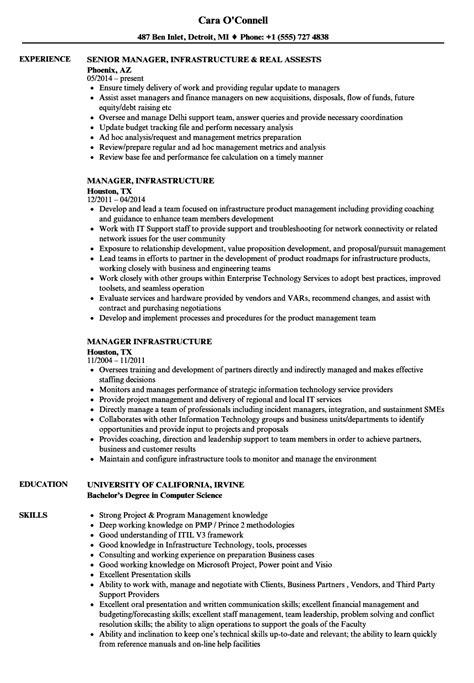 infrastructure specialist sle resume per diem