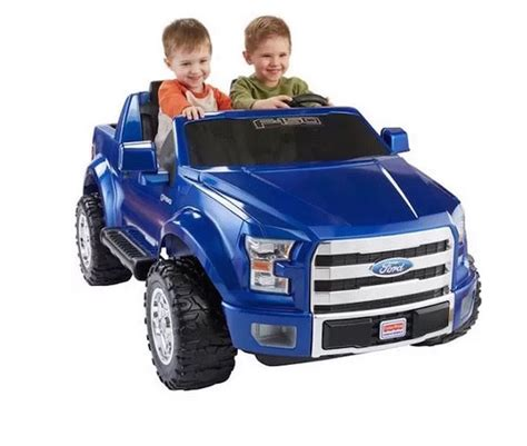 toddler four wheeler battery powered blue ford f150 truck electric power