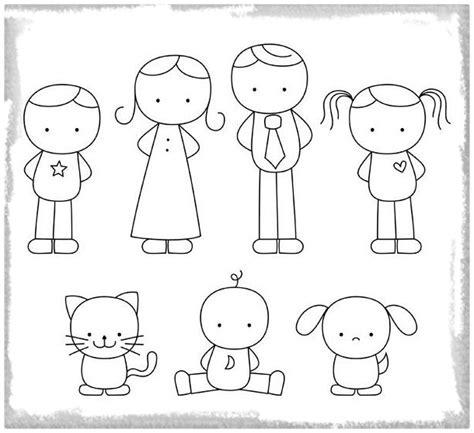 dibujos de la familia para colorear y recortar Archivos