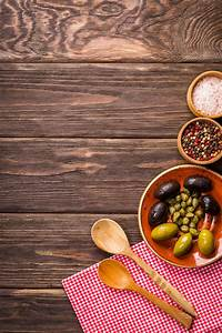 Free Images : food, tasty, olives, wooden background, cooking, plate, kitchen, gourmet ...