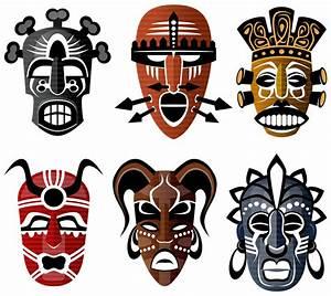 Free Illustration  Tribal Masks  African  Culture  Set