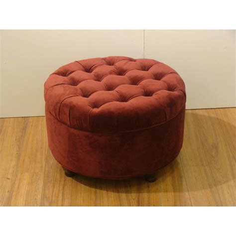 Best Deals On Ottomans by Button Tufted Velvet Berry Storage Ottoman