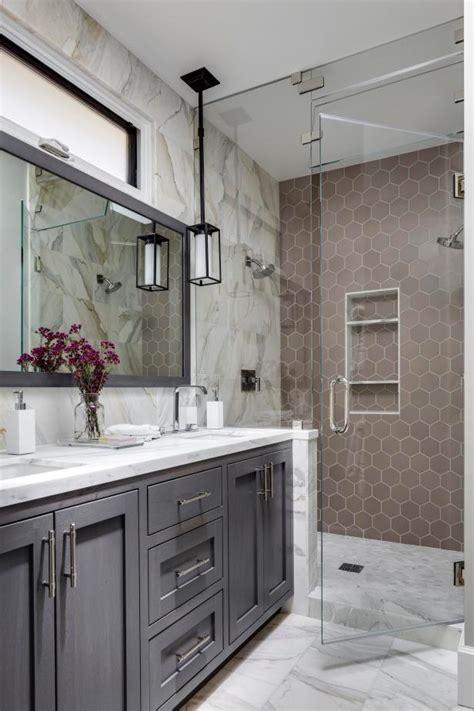 Master Bathroom Tile Ideas by 9 Bold Bathroom Tile Designs Hgtv S Decorating Design