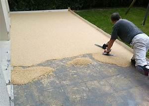 Sol Pour Terrasse : revetement terrasse exterieure resine pack granulat ~ Edinachiropracticcenter.com Idées de Décoration