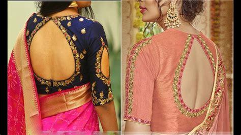 designer blouse designs   neck  silk sarees