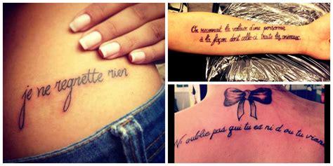 Phrase De Tatouage Femme
