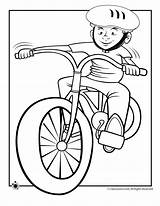 Coloring Bike Riding Boy Pages Helmet Cartoon Bicycle Spring Ride Drawing Cycling Clipart Dirt Colouring Cliparts Disney Fall Library Transportation sketch template