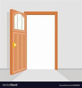 Open, Door, House, Background, Flat, Design, Isolated, Vector, Image