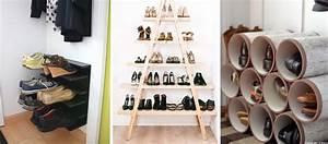Meuble à Chaussures Original : 18 tutoriels pour fabriquer un rangement pour chaussures pas cher ~ Teatrodelosmanantiales.com Idées de Décoration