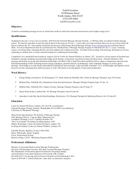 Physical Therapy Resume Exles by Resume Exles For Therapist Teacheng Us