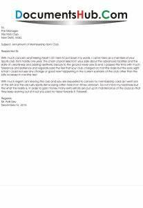 Sample Gym Cancellation Letter Membership Cancellation Letter Format Documentshub Com