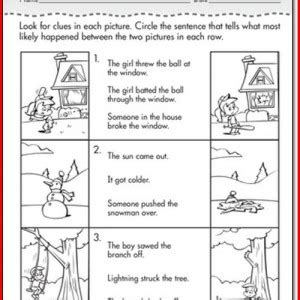 1st Grade Inference Worksheets Worksheets For All  Download And Share Worksheets  Free On